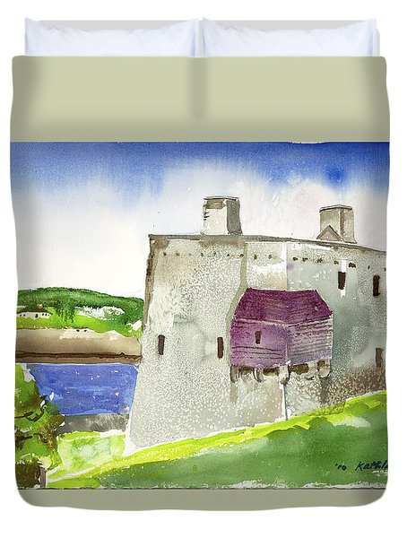 Castle From The Hill Duvet Cover