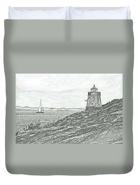 Castle Hill Lighthouse Duvet Cover