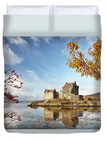 Duvet Cover featuring the photograph Castle In Autumn by Grant Glendinning