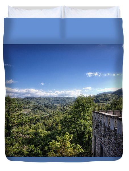 Castle In Chianti, Italy Duvet Cover