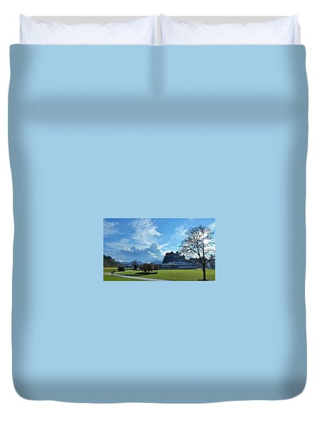 Castle In The Clouds Duvet Cover by Felicia Tica