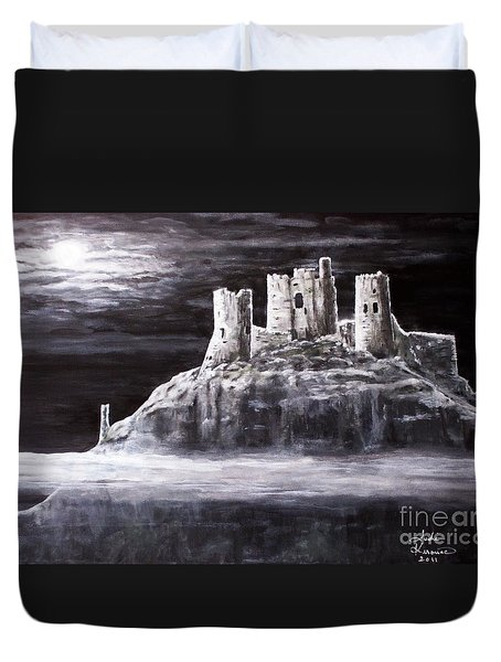 Duvet Cover featuring the painting Castle In The Sky by Judy Kirouac