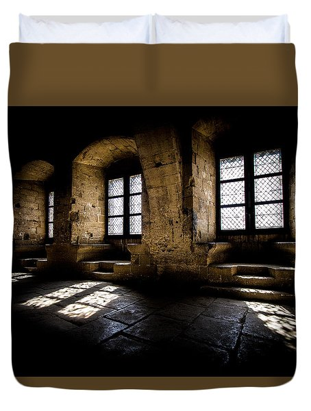 Duvet Cover featuring the photograph Castle Light by Jason Smith