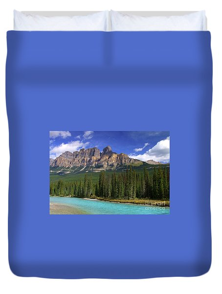 Castle Mountain Banff The Canadian Rockies Duvet Cover