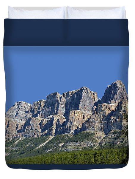 Castle Mountain Duvet Cover