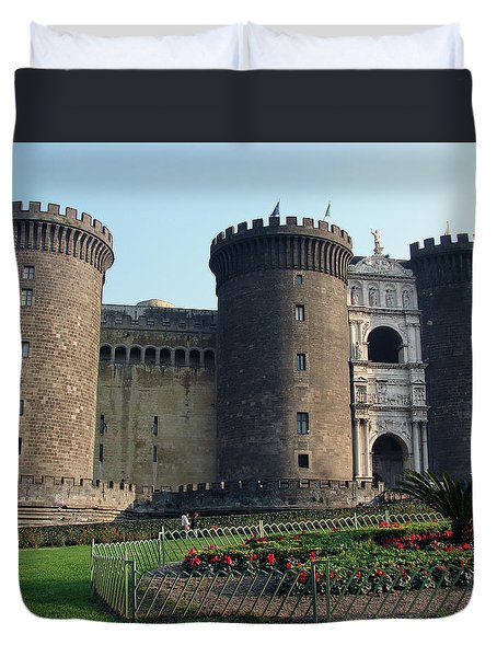 Castle Nuovo Naples Italy Duvet Cover
