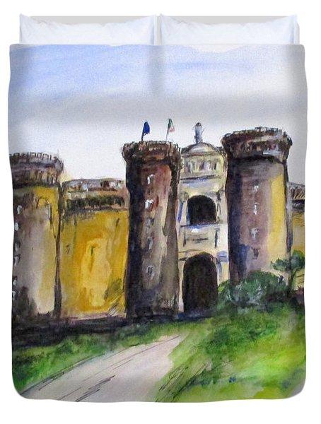 Castle Nuovo, Napoli Duvet Cover