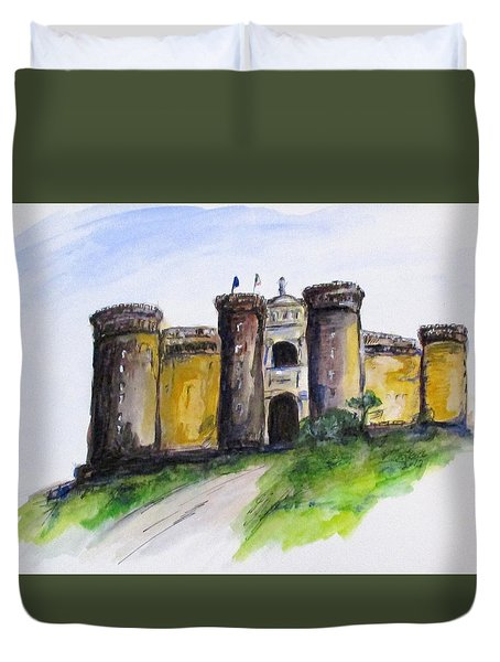Castle Nuovo, Napoli Duvet Cover by Clyde J Kell