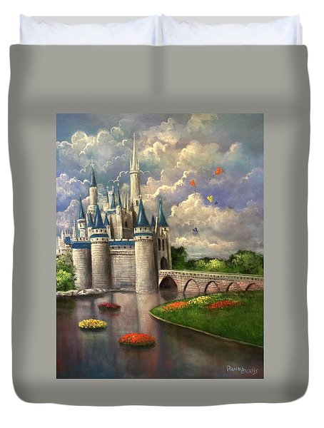 Castle Of Dreams Duvet Cover by Randy Burns