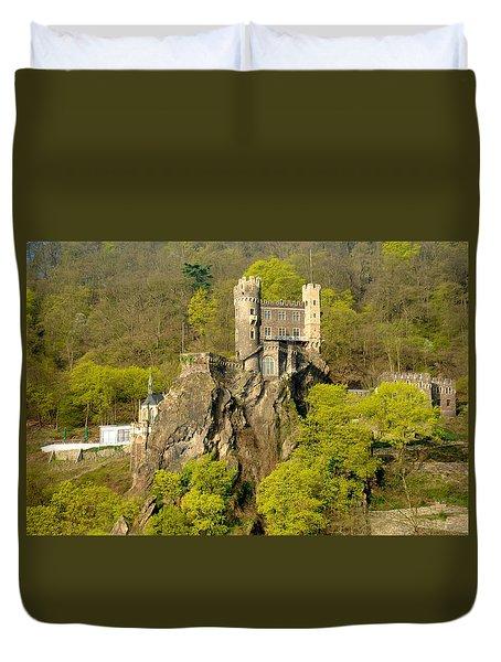 Castle On A Rock Duvet Cover