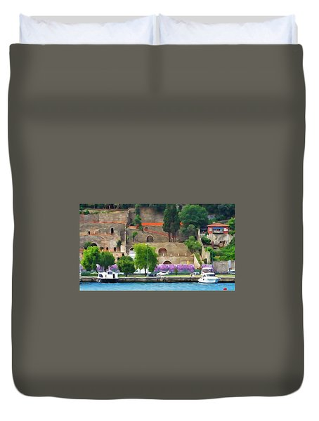 Castle On The Bosphorus Duvet Cover