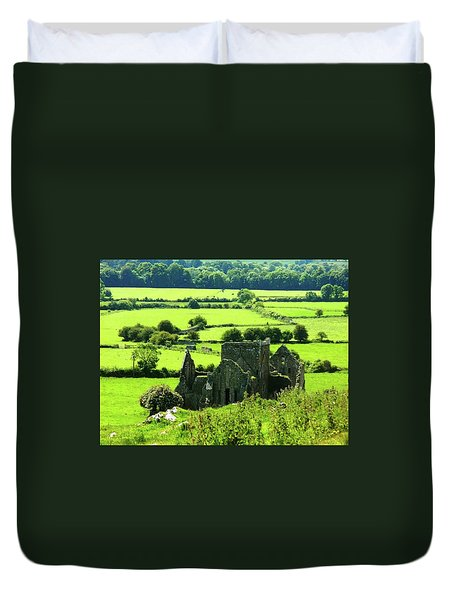 Castle Ruins Countryside Duvet Cover