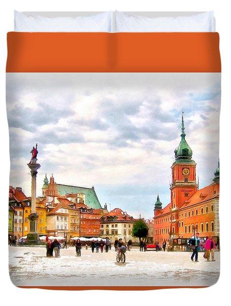 Castle Square, Warsaw Duvet Cover by Maciek Froncisz