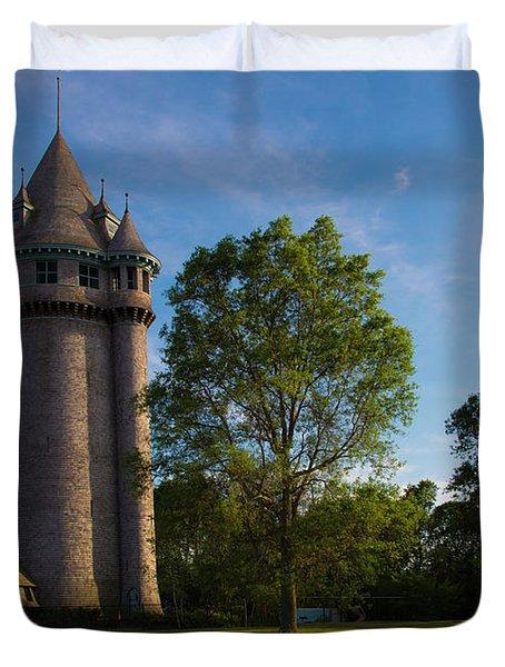 Castle Turret On The Green Duvet Cover