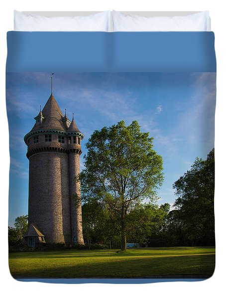 Castle Turret On The Green Duvet Cover