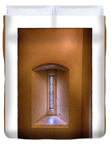 Castle Window Duvet Cover by R Thomas Berner