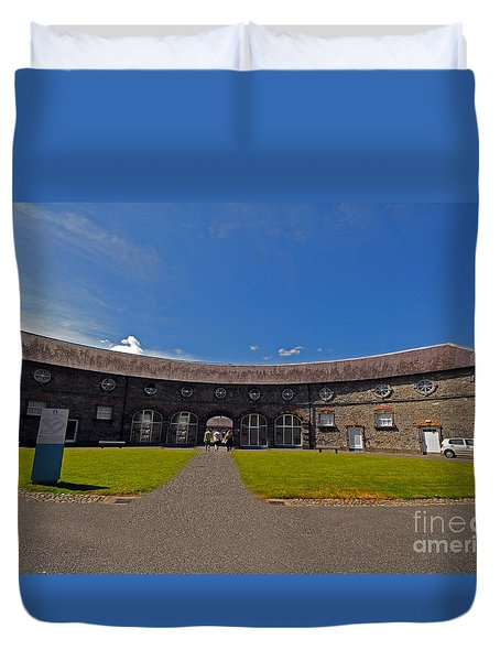 Castle Yard Kilkenny Castle Duvet Cover by Cindy Murphy - NightVisions