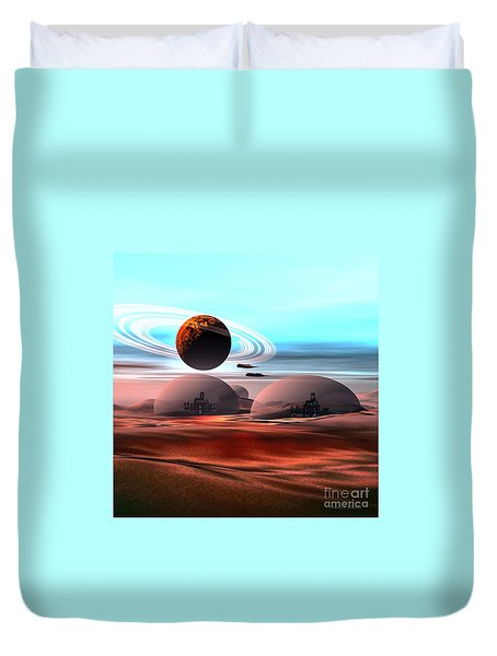 Castles In The Sand Duvet Cover by Corey Ford