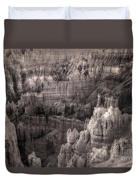 Duvet Cover featuring the digital art Castles Made Of Sand In The Hoodoos  by William Fields