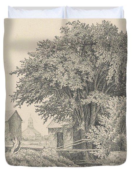 Castleton, Vermont, 1871 Duvet Cover