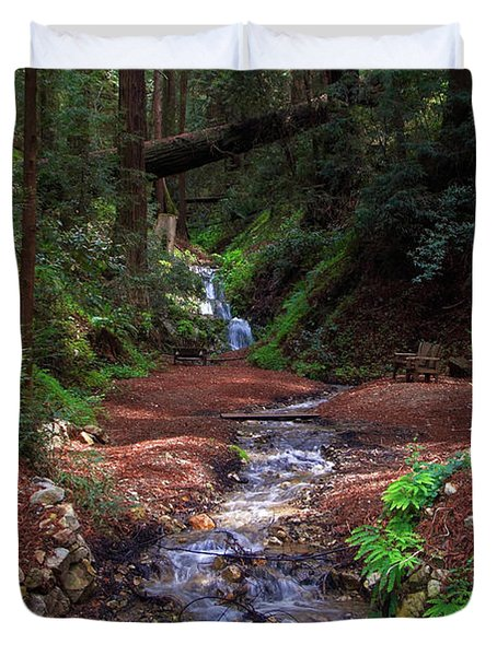 Castro Canyon In Big Sur Duvet Cover