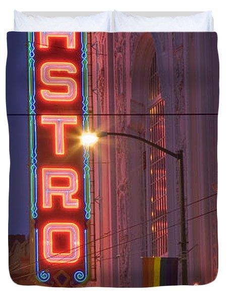 Castro Theater San Francisco Duvet Cover