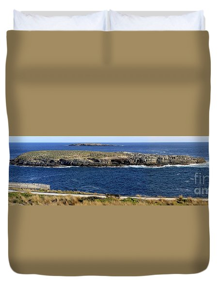 Duvet Cover featuring the photograph Casuarina Islets by Stephen Mitchell