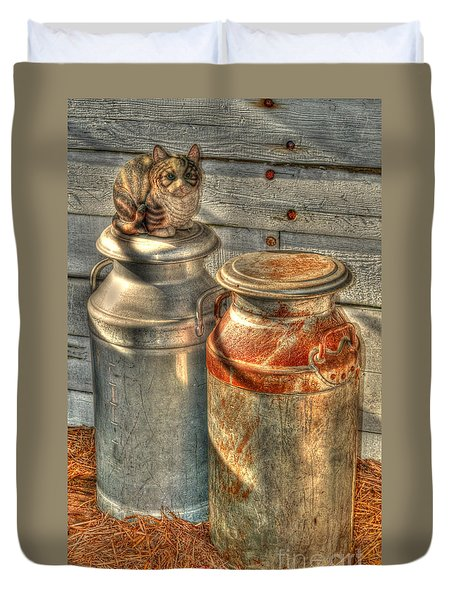 Cat And The Churns Duvet Cover
