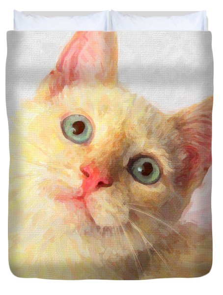 Cat Duvet Cover by Andre Faubert