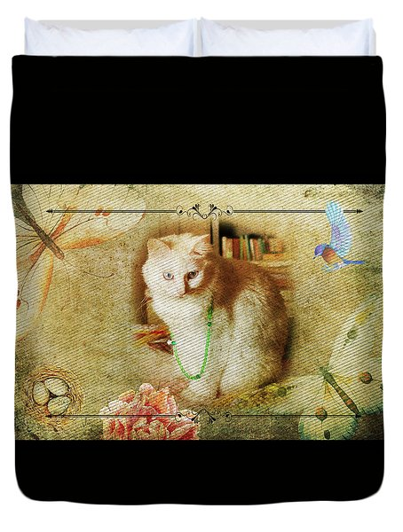 Kitty Cat Composite Art II Duvet Cover