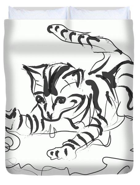 Cat- Cute Kitty  Duvet Cover