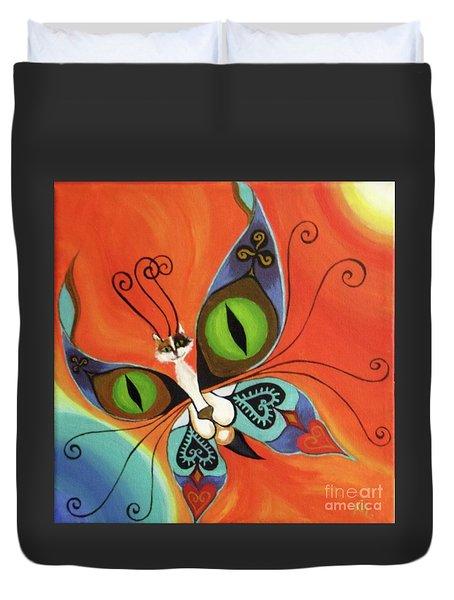 Cat-eyes Butterfly Duvet Cover by Melina Mel P