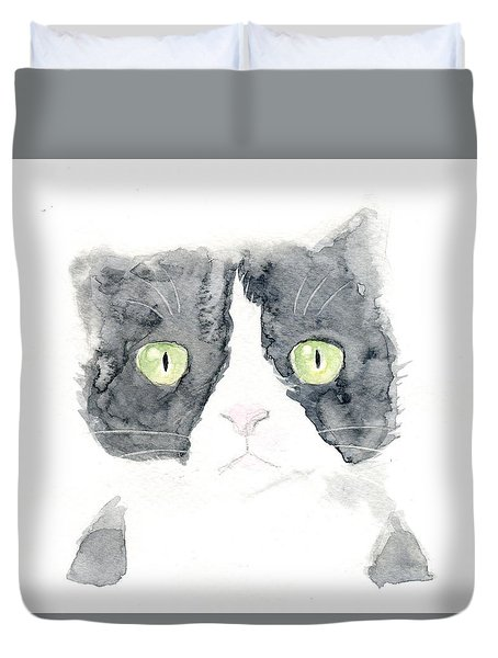 Thinking Cat Duvet Cover