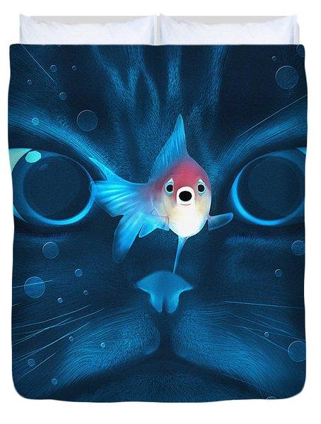 Cat Fish Duvet Cover by Nicholas Ely