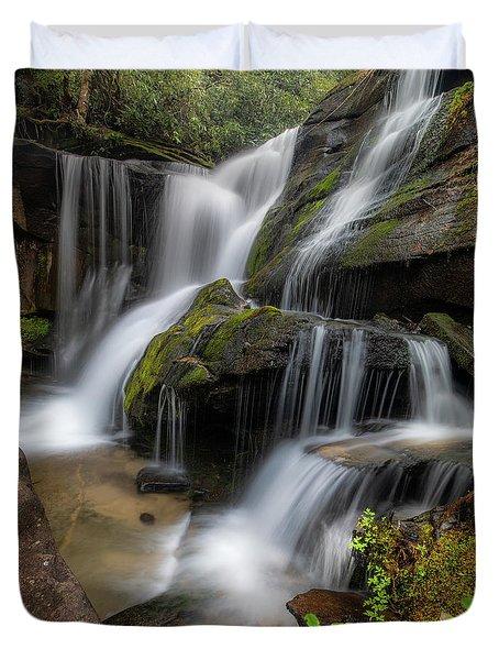 Cat Gap Loop Trail Waterfall Duvet Cover