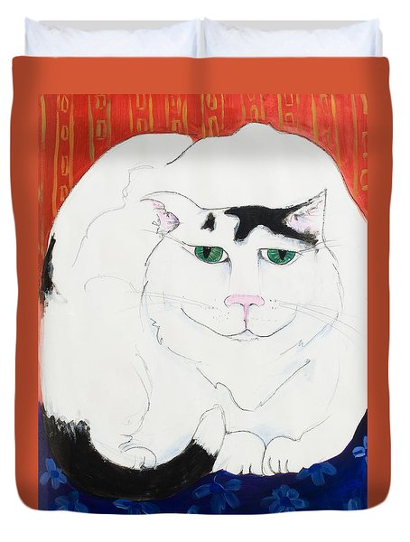 Cat II - Cat Dozing Off Duvet Cover