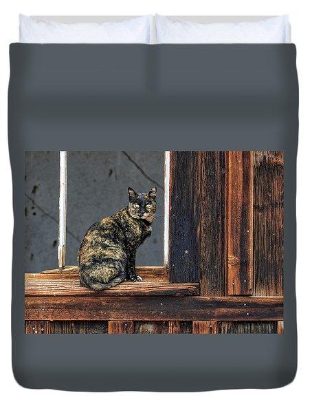 Cat In A Window Duvet Cover