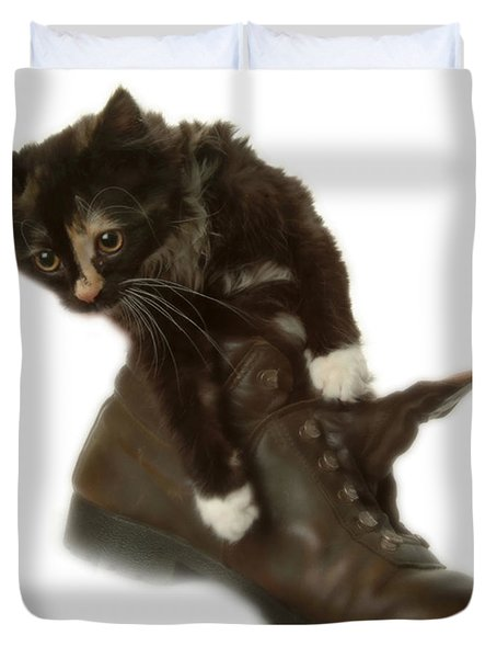 Cat In Boot Duvet Cover