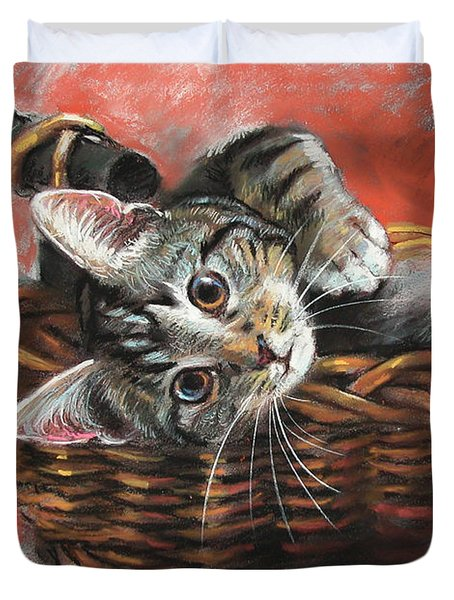 Cat In The Basket Duvet Cover