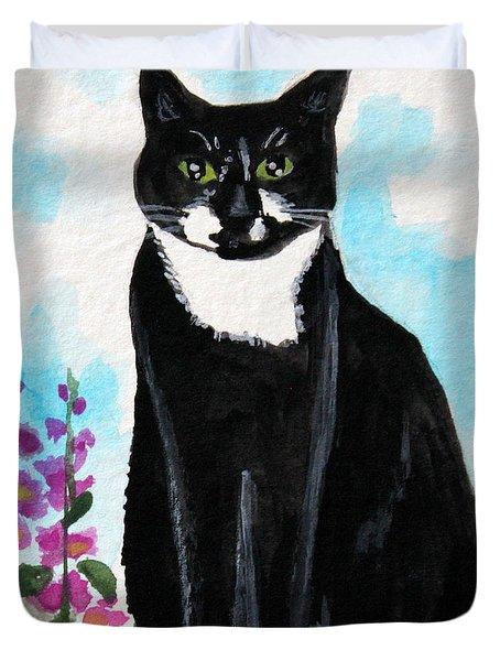 Cat In The Garden Duvet Cover