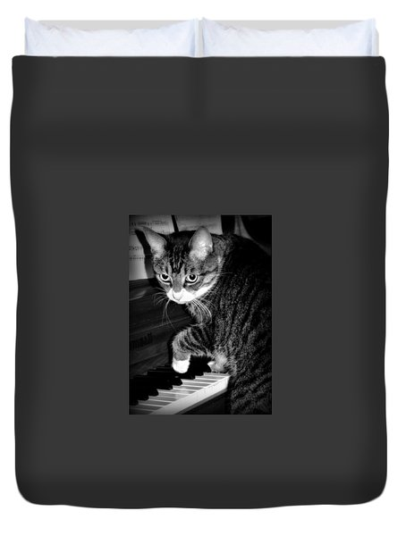 Cat Jammer Duvet Cover