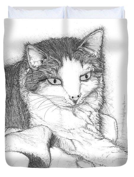 Domestic Cat Duvet Cover