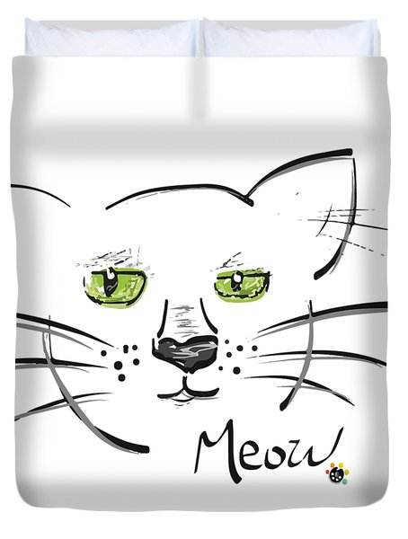 Cat Meow Duvet Cover