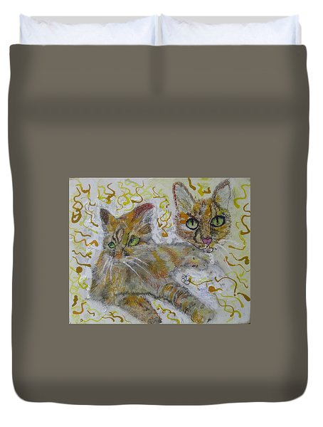 Cat Named Phoenicia Duvet Cover