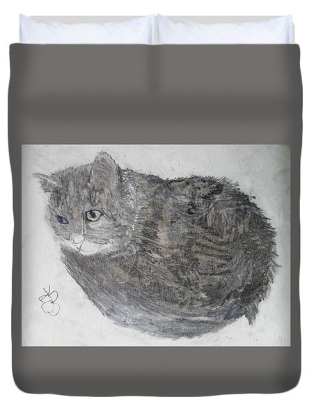 Cat Named Shrimp Duvet Cover