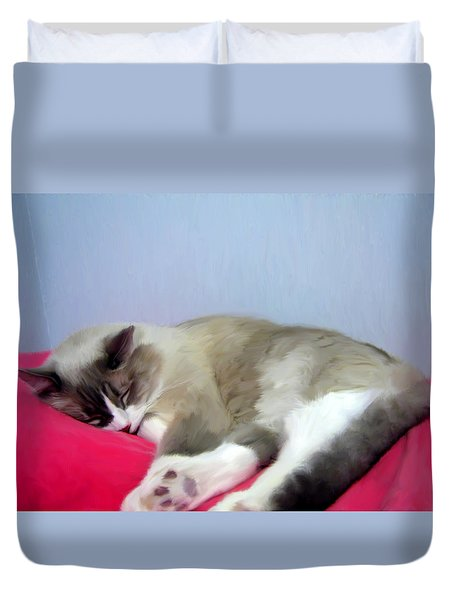 Cat Nap Duvet Cover
