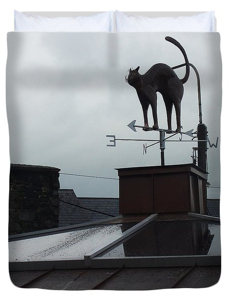 Cat On A Cool Tin Roof Duvet Cover