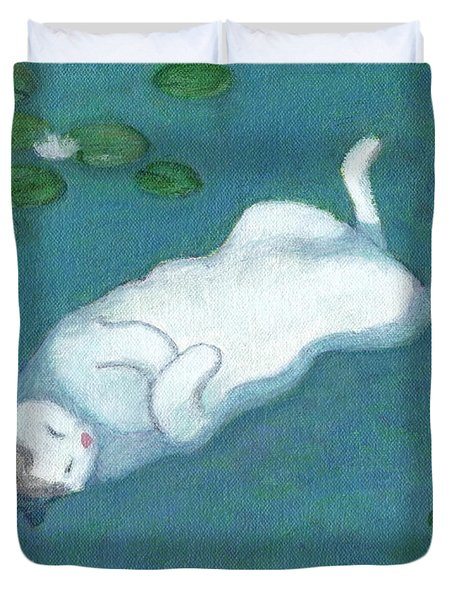 Cat On Vacation Duvet Cover