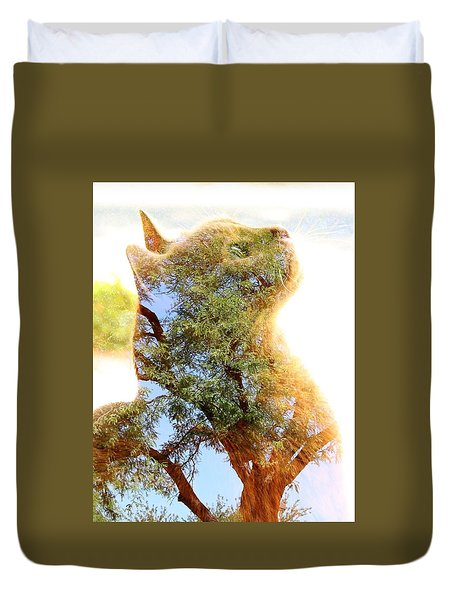 Cat Or Tree Duvet Cover