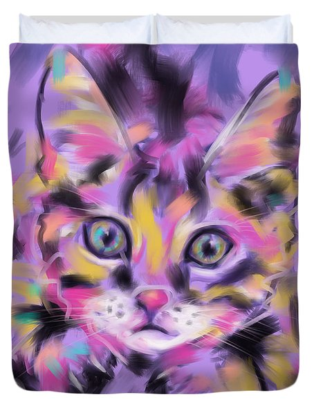 Cat Wild Thing Duvet Cover